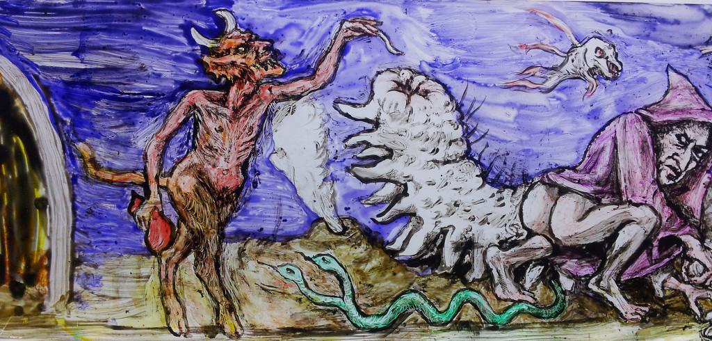 devil feeding seaslug
