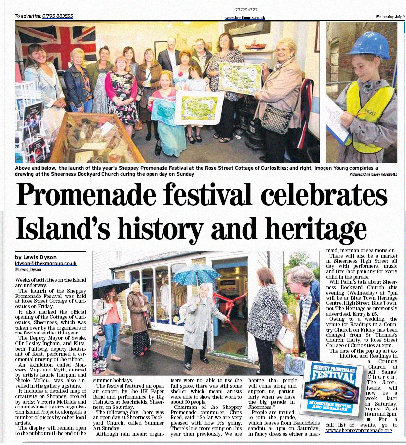 MAp launch Sheerness TIme Guardian coverage